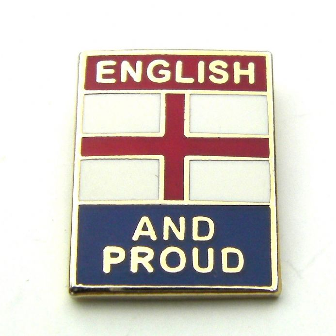 """English and Proud"" Small England Badge"